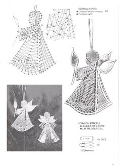 navidad - rosi ramos - Picasa Web Albums Crochet Christmas Ornaments, Christmas Angels, Christmas Crafts, Bobbin Lace Patterns, Vintage Crochet Patterns, Crochet Butterfly Pattern, Bobbin Lacemaking, Crochet Angels, Angel Crafts