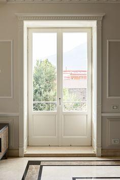 Cottage Windows, Living Room Windows, Living Room Decor, English Interior, French Interior, Interior Design, Narrow French Doors, French Windows, Victorian Patio Doors