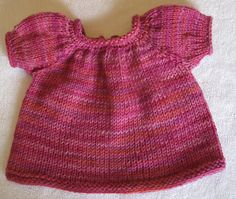 "Ravelry: Doll dress pattern by Lynn Matthies; very simple, plan to adapt it in a million ways, just to use this just as the starting point.18"" doll"