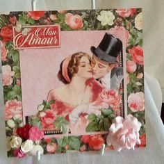 Vintage couple Valentine card by Paintspotsandpaper on Etsy