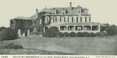 Old Long Island:  'Mayfair', the Elihu Root estate designed by Carrere & Hastings c. 1896 in Southampton.