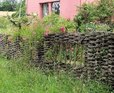 """wattle fence- with a window I want to create some of these """"set apart"""" spaces"""