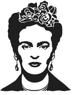 Stencil Printing, Stencil Art, Screen Printing, Stencils, Frida Kahlo Tattoos, Kahlo Paintings, Harry Potter Drawings, Black White Art, Arte Pop