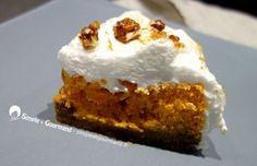 Ce gâteau potiron speculoos est composé d'une base de biscuit au speculoos, d'une mousse au potiron avec des noix de pécan caramélisées et d'une meringue.. Biscuits, Pumpkin Recipes, Food Porn, Pie, Cooking, Desserts, Meringue, Mousse, Sugar Cake