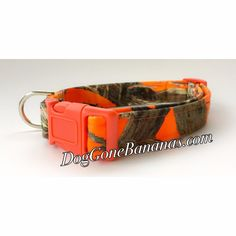 Orange Camo MC2 Dog Collar Sep Leash Option Poly Blend Choice of Buckle | eBay