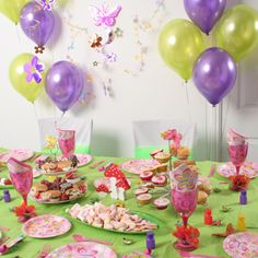 More beautiful decor ideas for the perfect fairy party for that special little girl taken from Dreambox Parties.