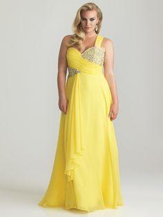 One Shoulder Drape Skirt Night Moves Plus Size Prom Dress 6768W: DressProm.net