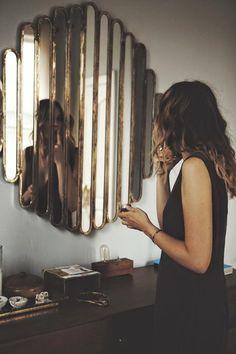 paneled deco mirror in bedroom Home Design Decor, House Design, Home Decor, Interior Design, Luxury Interior, Art Decor, Interior Inspiration, Design Inspiration, Mirror Inspiration