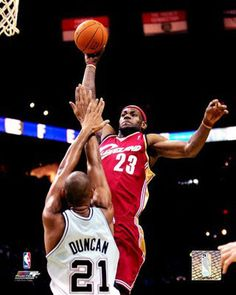 LeBron made Tim Duncan into a posterization