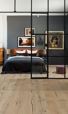 Bedroom with oak Kinda from the Smaland Collection Residential Architecture, Decoration, Home Projects, Sweet Home, New Homes, Interior Design, Furniture, Home Decor, Laminate Flooring