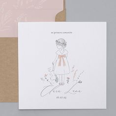 First Holy Communion, Peppa Pig, Christening, Place Card Holders, Lettering, Illustration, Cards, Inspiration, Wedding Stationery