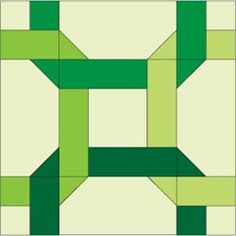 "McCall's Quilting FREE ""Block Reference"" ~ this is a FREE library of quilt block patterns especially for you!  New blocks added every month, so be sure to bookmark this page in your web browser for easy reference...like this Celtic Twist Quilt Block."