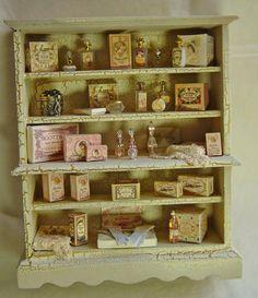 Ladies shop Filled cabinet. Antique french by uniqueminiatures
