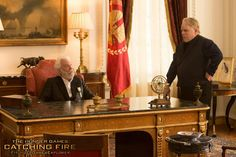 The Hunger Games: Catching Fire Pic Featuring Pic Featuring Philip Seymour Hoffman and Donald Sutherland