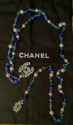 Chanel Pearl Charm Necklace Belt