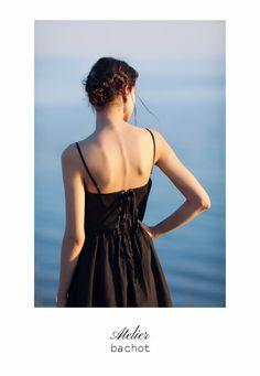 Summer dress scalloped dress Linen ramie dress from @atelierbachot