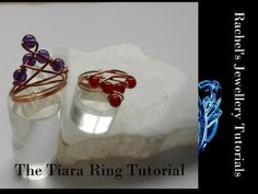 The Tiara Ring - A Wire Wrap Tutorial By Rachel Murgatroyd This artist has loads of free tutorials on her Youtube channel