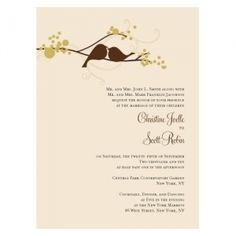Love Birds Wedding Invitations (Set of 4 - 4 Colors) (Wedding Star 1032) | Buy at Wedding Favors Unlimited (http://www.weddingfavorsunlimited.com/love_birds_wedding_invitations_set_of_4_-_4_colors.html).