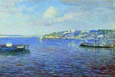 View of Nizhniy Novgorod - Isaac Levitan