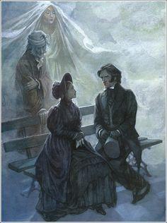 | Charles Dickens | {A Christmas Carol} Illustrator P. J. Lynch.