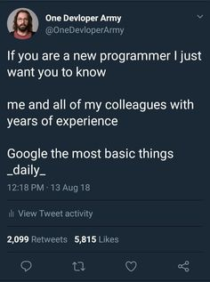 "positive-memes: ""If you are a new programmer "" Information Technology Humor, Education Information, Technology Posters, Energy Technology, Technology Gifts, Technology Wallpaper, Technology Background, Technology Design, Medical Technology"