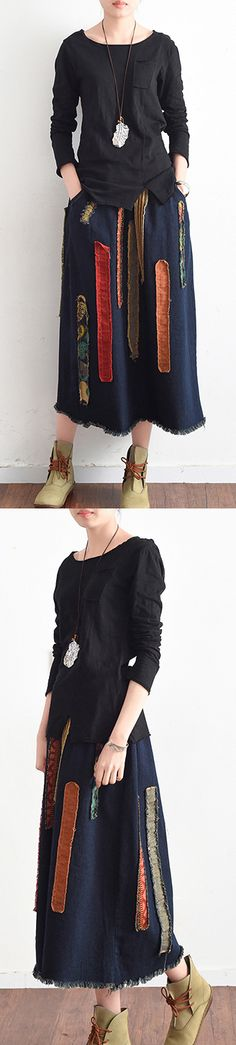 fall black stylish cotton blouse slim casual long sleeve t shiert
