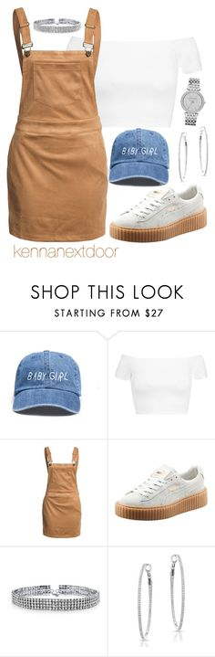 """""""talk to me nice"""" by kennanextdoor ❤ liked on Polyvore featuring Alice + Olivia, Glamorous, Puma, Bling Jewelry, Anne Sisteron and Michael Kors"""