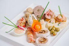 Image result for meniu nunta 2017 Finger Foods, Potato Salad, Ethnic Recipes, Top, Fine Dining, Kitchens, Salads, Finger Food, Crop Shirt