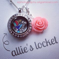 Origami Owl - Mini Silver Locket with CrystalsOrigami Owl! Julie White #37515 www.jdvwhite.origamiowl.com