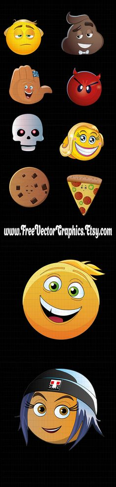 The emoji movie - is a fan art. All copyrights to the heroes do not belong to us, but to their creators. We sell smiley face, which was drawn by our designer, having been inspired by emoji movie characters.   The file you can use to create: • decorating, • overlays, • cricut design, • beautiful vinyl and decals, • decoupage, • greeting cards, • scrapbooking, • home decor, • mugs and t-shirts, • printing and posters and other.  What do you get?  With the quick download you get 10 digital…