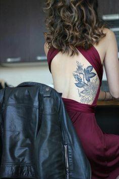 Back tat & dress