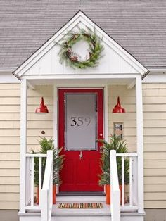 Brighten up the home with a simple coat of red paint #outdoordecor- Country Living