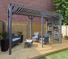 Urban Timber Garden Pergola - GardenSite.co.uk