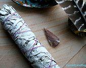White Sage-LRG + Jasper Arrow CA Grandmother White Sage Smudge Stick Native Boho Bundle, New Age Herb Incense, House Blessing Sacred Garden, House Blessing, Smudge Sticks, Wood Resin, Incense, Smudging, Jasper, Sage, Arrow