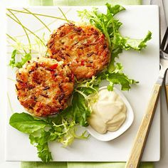 Cindi Rockwell of Berkley, Michigan, was a finalist in our 2012 Best of the Midwest recipe contest for these hearty fish cakes with a zippy wasabi dressing.