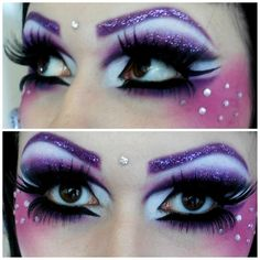 """Fairy Makeup"" - Purple Eyeshadow with Glitter https://www.makeupbee.com/look.php?look_id=90918"