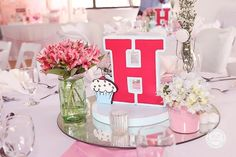 Hailey's Dainty Little Bakeshop Themed Party – Table Centerpiece