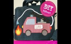 **Nähset / Gestaltungsset Applikation Feuerwehr ** Gestalte deinem Kind eine eigene individuelle Kindergartentasche oder Shirt oder Schultüte... Diese Applikation ist passend für unsere...