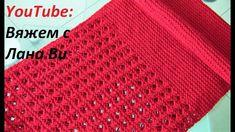 Вяжем шарф-снуд спицами, 50/50 - АЖУРНЫЙ узор и ПЛАТОЧНАЯ вязка. Шарф-сн...