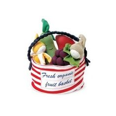 Fresh Organic Fruit Basket plushies by Under the Nile - made with organic cotton