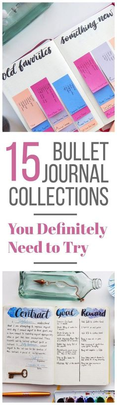 Bullet journal collections are limitless in potential. Here are 15 unique ideas to help you get your juices flowing and your pen writing!