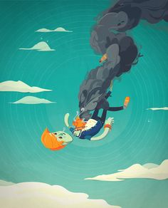 We Crash Like Planes Do by Robx Bautista, via Behance