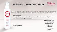 Oggi vi presentiamo la #EXENZIALJALURONICMASK una maschera ANTI-AGE della nuovissima #LineaViso professionale Neoglis!La peculiarità di questo prodotto risiede proprio nella presenza dell' ACIDO JALURONICO e COENZIMA Q.10 (UBIQUINONE) !