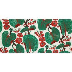 "Josef Frank Designer Linen Fabric ""Aramal"" in Red - 0.5m, 315g/m2"