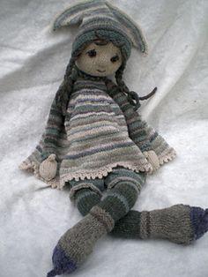 Best 12 Ravelry: Tulip pattern by Deena Thomson-Menard Knitted Dolls Free, Doll Amigurumi Free Pattern, Knitted Doll Patterns, Doll Patterns Free, Crochet Cat Pattern, Softie Pattern, Crochet Bear, Crochet Dolls, Knitting Patterns