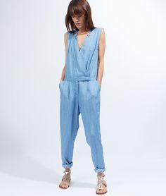 Combinaison pantalon carotte - ANDY - BLEU - Etam