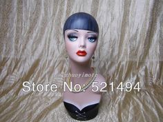 Painted Mannequin Heads | Vintage Fiberglass hand-painted female mannequin head for wig, jewelry ...