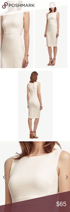 Ann Taylor sheath dress Boat neck, empire waist, sleeveless and flattering fit. Also available in 10p. Ann Taylor Dresses