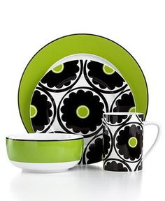 Echo Design Dinnerware, That 70's Floral 4 Piece Place Setting - Casual Dinnerware - Dining & Entertaining - Macy's