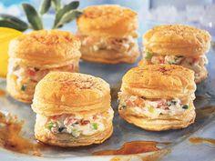Crab Dip in Puff Pastries